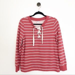 Old Navy Lace Up Pullover Sweatshirt